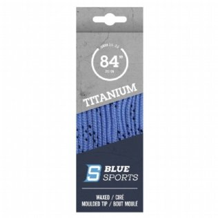 Blue Sports Titanium Pro Schnürsenkel gewachst hellblau © Blue Sports