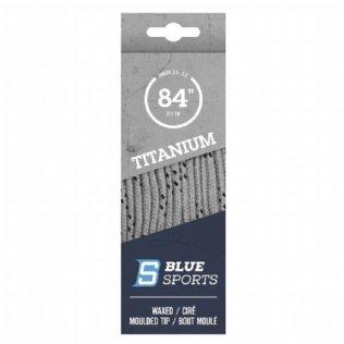 Blue Sports Titanium Pro Schnürsenkel gewachst silber © Blue Sports