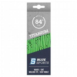 Blue Sports Titanium Pro Schnürsenkel gewachst limetten grün © Blue Sports