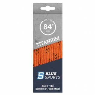 Blue Sports Titanium Pro Schnürsenkel gewachst orange © Blue Sports