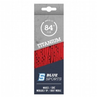 Blue Sports Titanium Pro Schnürsenkel gewachst rot © Blue Sports